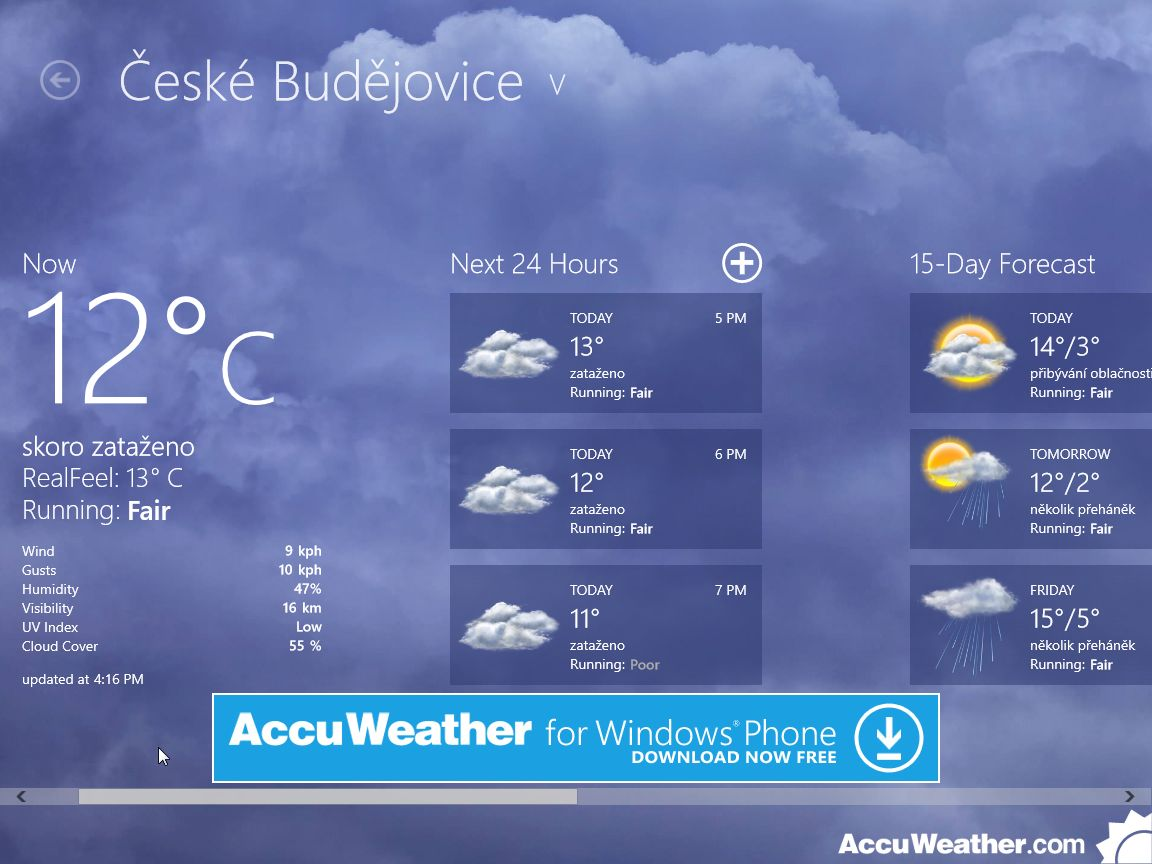 AcuWeather pro Windows 8